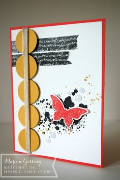 Stampin' Up, Card, Gorgeous Grunge, Kinda Eclectic