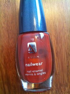 Perfect rust colored nail polish from #avon
