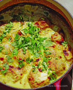 Almond Chicken Curry with Yoghurt looking forward to this - have doubled, should feed us for 3 nights. Slow Cooker Recipes, Meat Recipes, Indian Food Recipes, Vegetarian Recipes, Cooking Recipes, Healthy Recipes, Ethnic Recipes, Indonesian Recipes, Cooking Ideas