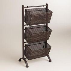 One of my favorite discoveries at WorldMarket.com: Espresso Jeremy 3-Basket Storage