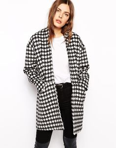 Just Female Dogtooth Coat