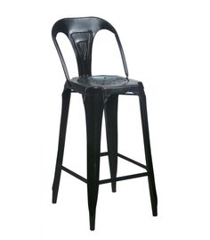 Bar stool Metal Effect Wood and Seat Fabric Brown Maroon Kitchen Stools, Bar Stools, Bar Deco, Chaise Bar, Industrial Style, Brown, Wood, Fabric, Noir Style