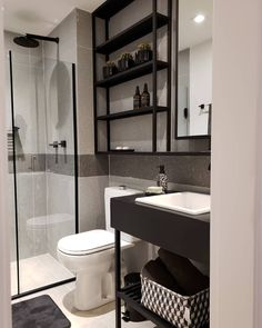 Kitchen Room Design, Home Room Design, Bathroom Design Small, Bathroom Interior Design, House Design, Home Office Decor, Diy Home Decor, Regal Bad, Industrial Bathroom