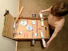 Pinball...and many other cute ideas involving CARDBOARD boxes- so cheap, and so creative. kids will LOVE!