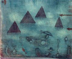 Paul Klee (1879-1940), Wasserpyramiden (Water Pyramids), 1924 (115). Watercolour and gouache, with pencil and ink, on linen laid on cardboard. 34.8cm H x 41.8cm W.