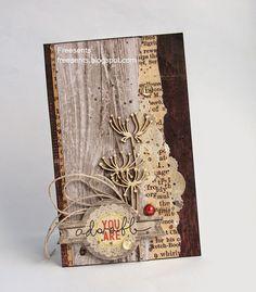 """О разных мелочах...: """"Деревянная"""" открытка"""