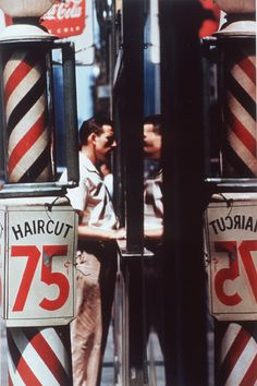 """Saul Leiter // 12/3/23-11/26/13. Where Weegee, Arbus and Avedon captured the city in clangorous, sharp-edged black and white, Saul Leiter saw it as a quiet polychrome symphony—the glow of neon, the halos of stoplights, the golden blur of taxis—a visual music. His work is contemplative, quasi-abstract and intensely concerned with color and geometry. It seems to be about the essential condition of perceiving the world. """"Seeing is a neglected enterprise,"""" Leiter often said…"""