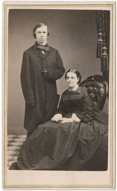 """Reverend Thomas Starr King and his wife. King, the popular Unitarian minister in San Francisco, gave dozens of passionate and eloquent talks on the need to preserve the union and end slavery.  He was credited with """"saving California for the Union."""""""