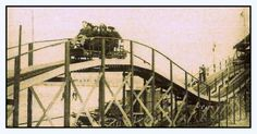 A very rare view of Southport's first roller coaster at the old fairground