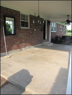 stain concrete to look like tile, trust me check out the website. it's easy and awesome!!