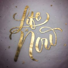 "Typeverything.com ""Life is Now"" by @rjmawst #typography #design"