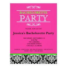 Bachelorette Party Invitation Martini Modern