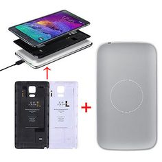 For SAMSUNG GALAXY NOTE 4 QI Wireless Receiving Cover+Charger Launch Pad Latest
