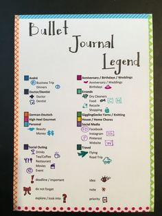My own combo of a bullet and yearly journal legend. By Judy B @gigglinggecko