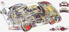 Porsche 935 Moby Dick cutaway