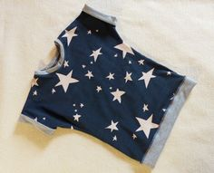 Lässiges Shirt ★ Stterne Gr. 86/92 von Label 1912 auf DaWanda.com