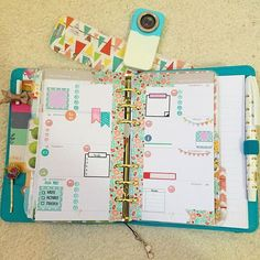 First week in my teal Kikkik medium  Inserts are from websters pages color crush…