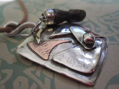 Donation to Madcap Charity Sterling Pendant by JudithGayleDesigns, $65.00