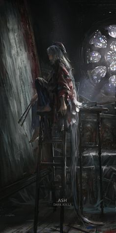 dark souls 3 painter girl ashes of ariandel Sif Dark Souls, Arte Dark Souls, Dark Fantasy Art, Dark Art, Soul Saga, Bloodborne Art, Pixiv Fantasia, Image Manga, Fandoms
