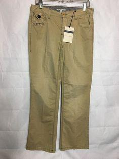 NWT WOMEN/'S FRANKIE B Twill Flare-Bell Bottom Khaki slacks//pants SIZE 4,6,8