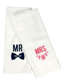 Mr and Mrs towels from Furbish