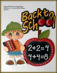 ELITE4U SCHOOL PREMADE KIDS PAPER PIECING SCRAPBOOK ALBUM PAGES BORDER ROXCRAFTS