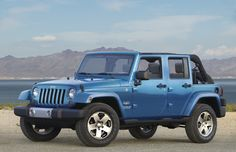The 2010 Jeep Wrangler Unlimited remains the only four-door convertible on the market. With room for five adult passengers, the Jeep brands fo 2010 Jeep Wrangler Unlimited, 2009 Jeep Wrangler, Jeep Dodge, Jeep Cj, Jeep Liberty, Jeep Grand Cherokee, Jeep Car Images, Mustang, Blue Jeep