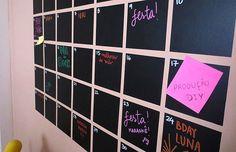 Tutorial para se organizar melhor: calendário de parede!