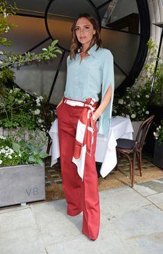 Victoria Beckham Styles Sleeves in a Weird Way