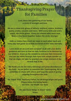 Blessings of Thanksgiving for Families