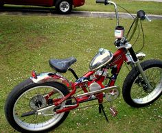 pedal chopper built by Jim Wilson