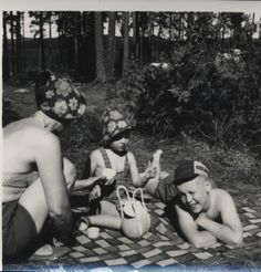 Woman and children on a picnic. 1960s? Bought in a junk shop in Helsinki, Finland, 12/2013