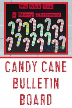 This candy cane bulletin board should inspire you for the entire month of December! It also works as a door display or hallway decor. Plus the post has a FREE download, NO PREP activities, book ideas,
