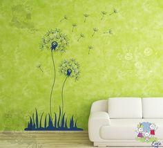 Flying Dandelions Seeds - Vinyl Stiker, Wall Decal