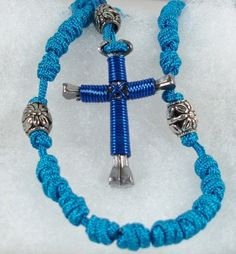 HandKnotted Rosaries with Horseshoe Nail Crosses, $15.00