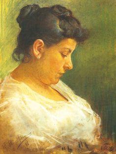 Pablo Picasso, Portret van zijn moeder 1896