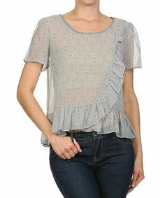 caite gray embroidered top - Google Search