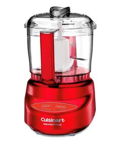 Look at this #zulilyfind! Red Prep Plus Mini Food Processor  Designed in Italy with an auto-reversing Smart Blade, this electric prep chef is incredible versatile. Its stainless steel blades work well with both hard and soft foods, and can do everything from chopping herbs to grinding hard cheese. Touch pad controls and hidden cord storage give it a sleek look.  Includes food processor and spatula Holds 24 oz. Blades: stainless steel Sale Ends in  4 days 22 hours