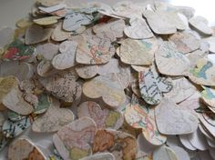 500 Paper Confetti for Weddings and Parties - World Map pattern on Etsy, $10.00