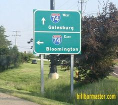 A BGS on WB US Route 150 at Knoxville, Illinois