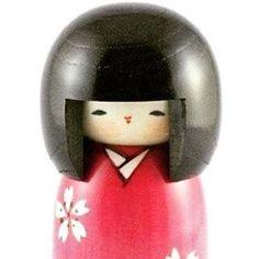 Kokeshi Sakura IN PROMOZIONE su #bottegagiapponese.it Visita il negozio: www.bottegagiapponese.it  #sakura #kokeshi #japanesestyle #artigianato (Bottega Giapponese Luigi & Yoshie)