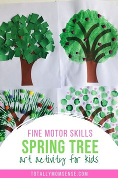 Isn't the start of spring always amazing? It's like the onset of a beautiful new life and it's just so beautiful to watch the colourful and blooming trees and flowers everywhere around us. Introduce the colourful blossom trees of the spring season to your little ones with this fun and creative spring tree craft. #springcraftsforkids #easyspringcrafts #freeprintables #toddlercraftideas #preschoolercrafts #toddlercraft #springcraftideasforkids #springcrafts Kids Activities At Home, Sensory Activities Toddlers, Educational Activities For Kids, Toddler Crafts, Preschool Crafts, Spring Tree, Spring Crafts For Kids, Tree Crafts, Business For Kids