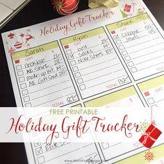 Holiday Gift Tracker Free Printable via @moritzdesigns