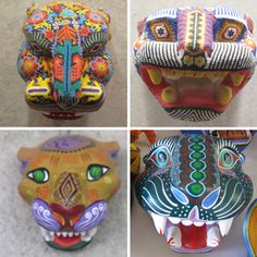 Mexican art (MEXICO - Jaguar Masks)