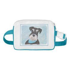 #Schnauzer (Miniature) Fanny Pack - #miniature #schnauzer #puppy #schnauzers #dog #dogs #pet #pets #cute #miniatureschnauzer