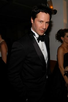 You, Sir, cut a dashing figure in that tux. Love the coy expression as well.  (chicfoo) keanu