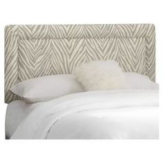 """Bring visual interest to your master suite or guest room with this chic linen-upholstered headboard, showcasing a zebra-print motif. Handmade in the USA.    Product: HeadboardConstruction Material: Pine wood and linenColor: GraphiteFeatures: Fits most standard metal frameHandmade in the USADimensions: Twin: 51"""" H x 41"""" W x 4"""" D Full: 51"""" H x 56"""" W x 4"""" D Queen: 51"""" H x 62"""" W x 4"""" D King: 51"""" H x 78"""" W x 4"""" D California King: 51"""" H x 74"""" W x 4"""" D Note: This product is a headboard only. ..."""