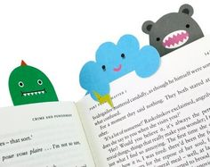 monster bookmark, craft, creative,colorful,cards,monster,bookmarks