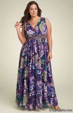 Cool Maxi dresses for plus size women 2018-2019 Check more at http://24myfashion.com/2016/maxi-dresses-for-plus-size-women-2018-2019/