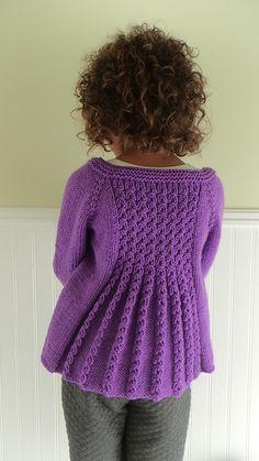 Diy Crafts - Ravelry: Marian Shrug pattern by Taiga Hilliard Designs Shrug Knitting Pattern, Kids Knitting Patterns, Cardigan Pattern, Knitting For Kids, Crochet Cardigan, Pull Crochet, Knit Crochet, Baby Sweaters, Girls Sweaters